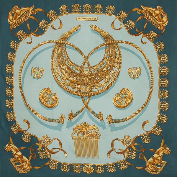 Les Cavaliers d'Or Blue by Hermès