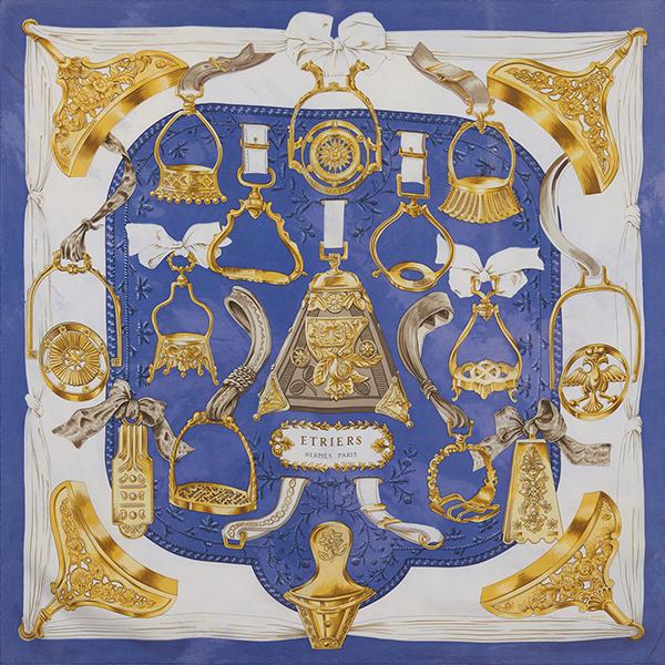 Etriers Blue & Gold by Hermès